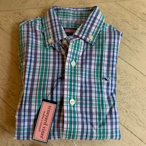NWT Vineyard Vines Whale Shirt (sz 6)